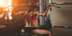 back-lat-pulldown is very good exercise for women.
