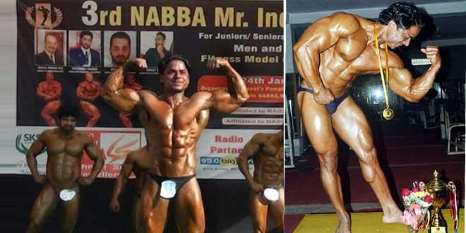 subhash won Nbba bodybuilding championship